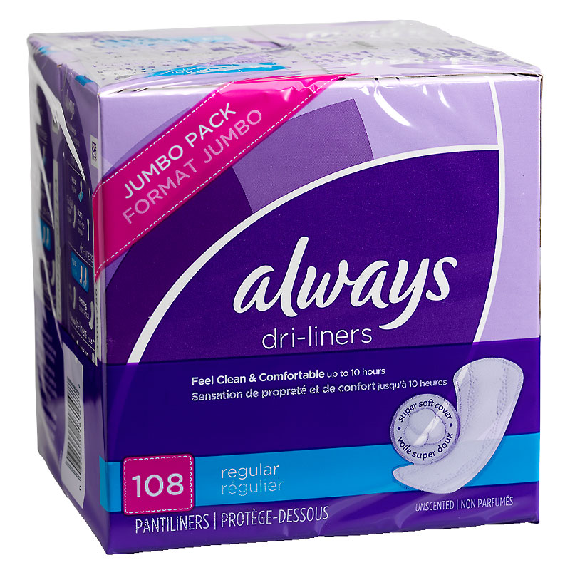 Always Dri-Liners - Regular - 108's