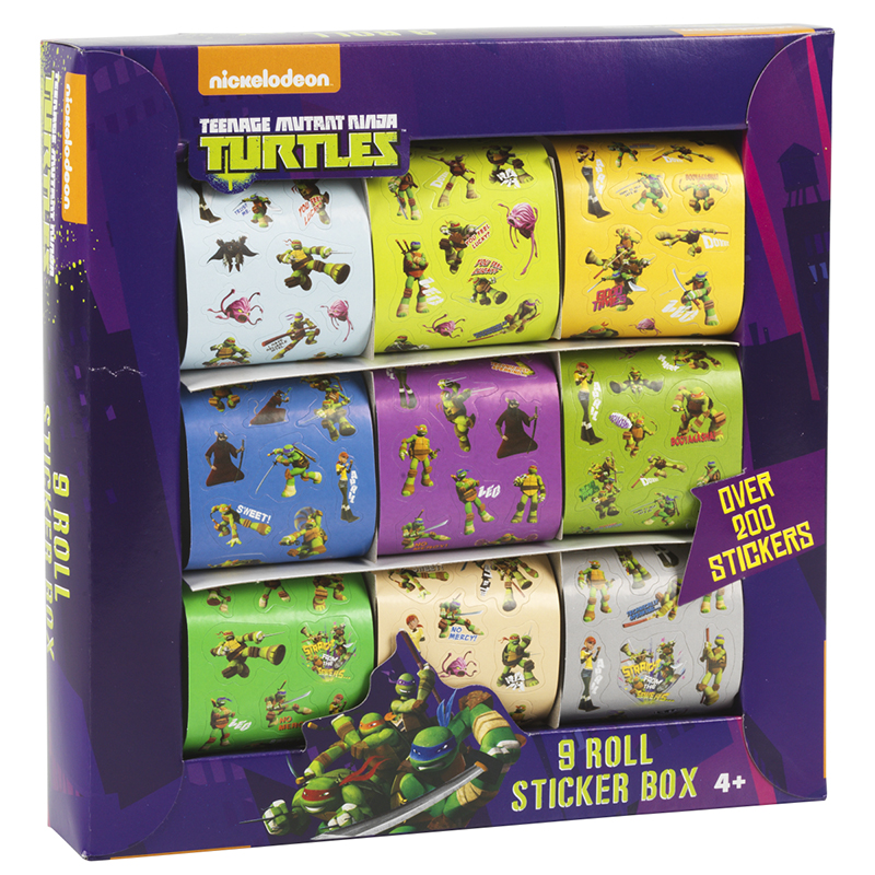 Nickelodeon Teenage Mutant Ninja Turtles Sticker Box - 9 Rolls