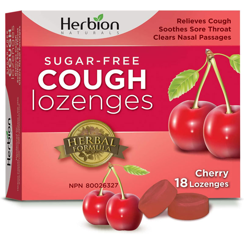 Herbion Naturals Sugar Free Cough Lozenges - Cherry - 18's