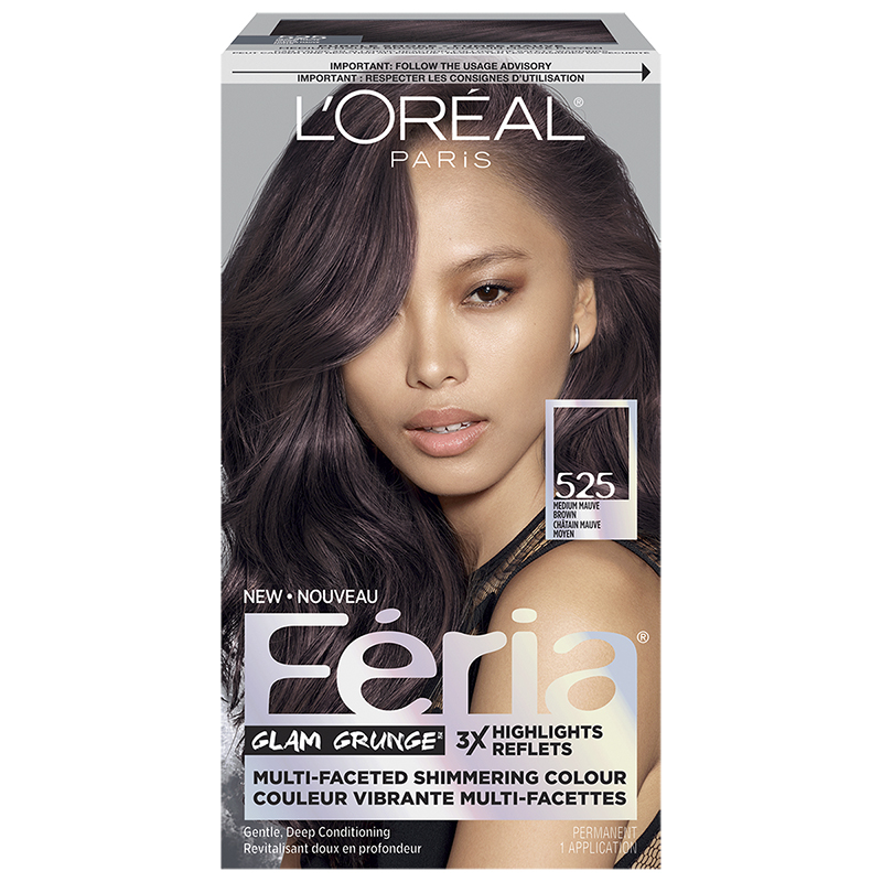 Loreal Feria Hair Colour 525 Medium Mauve Brown London Drugs