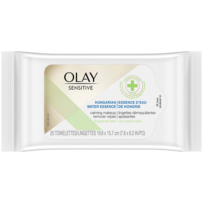 Olay Sensitive Hungarian Water Essence Calming Makeup Remover Wipes - 25's