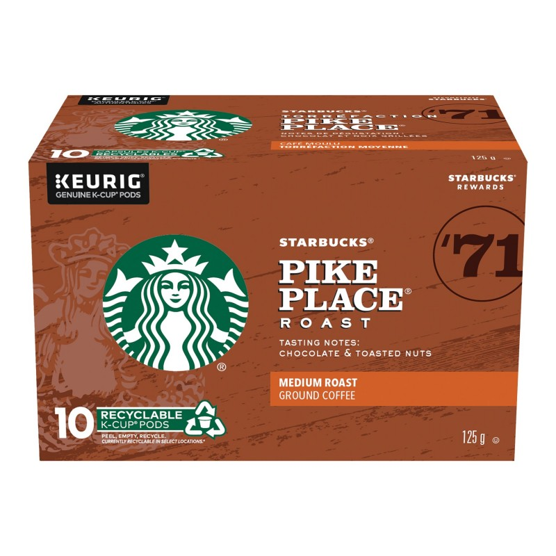 K-cup Starbucks Coffee - Pike Place - 10 pack