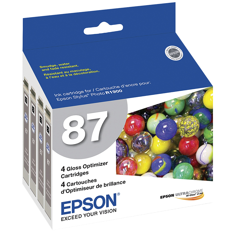 Epson SP1900 Gloss Optimizer Cartridge - 4 pack - T087020