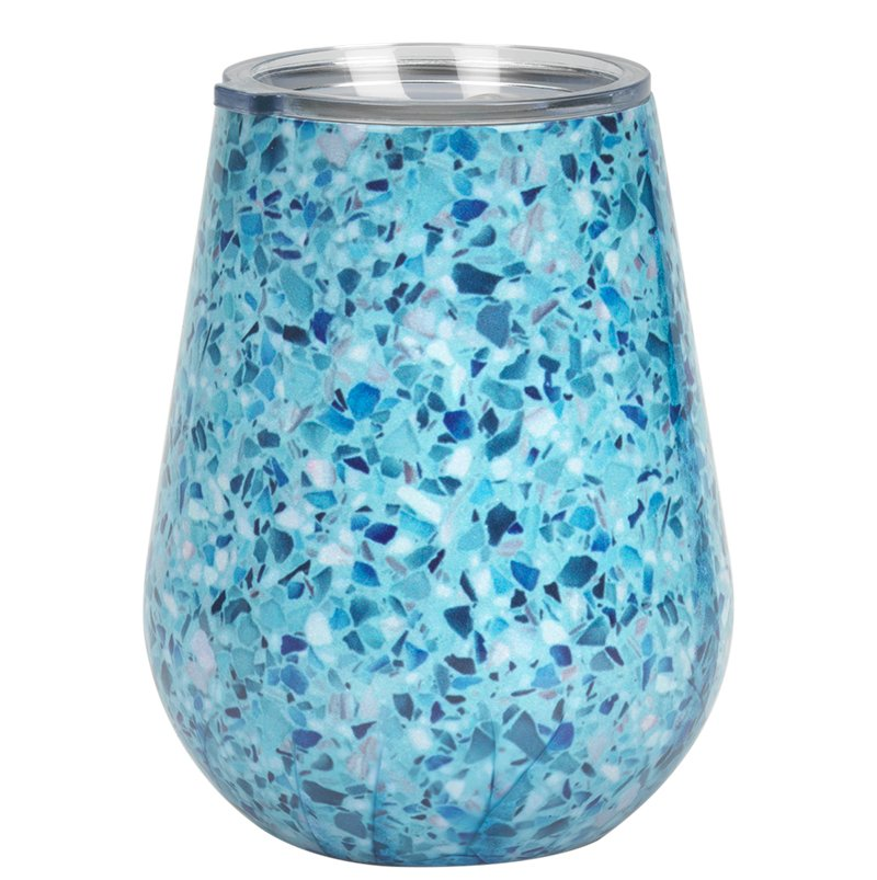 Cambridge Terrazzo Tumbler with Lid - Blue - 14oz