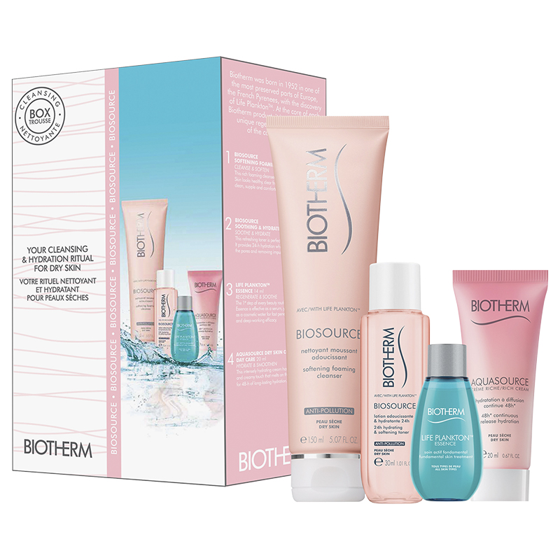 Biotherm Biosource Cleansing Set - Dry Skin - 4 piece