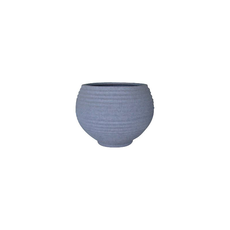 Japi Pottery Lattice Bowl Plant Pot - Grey - 42cm