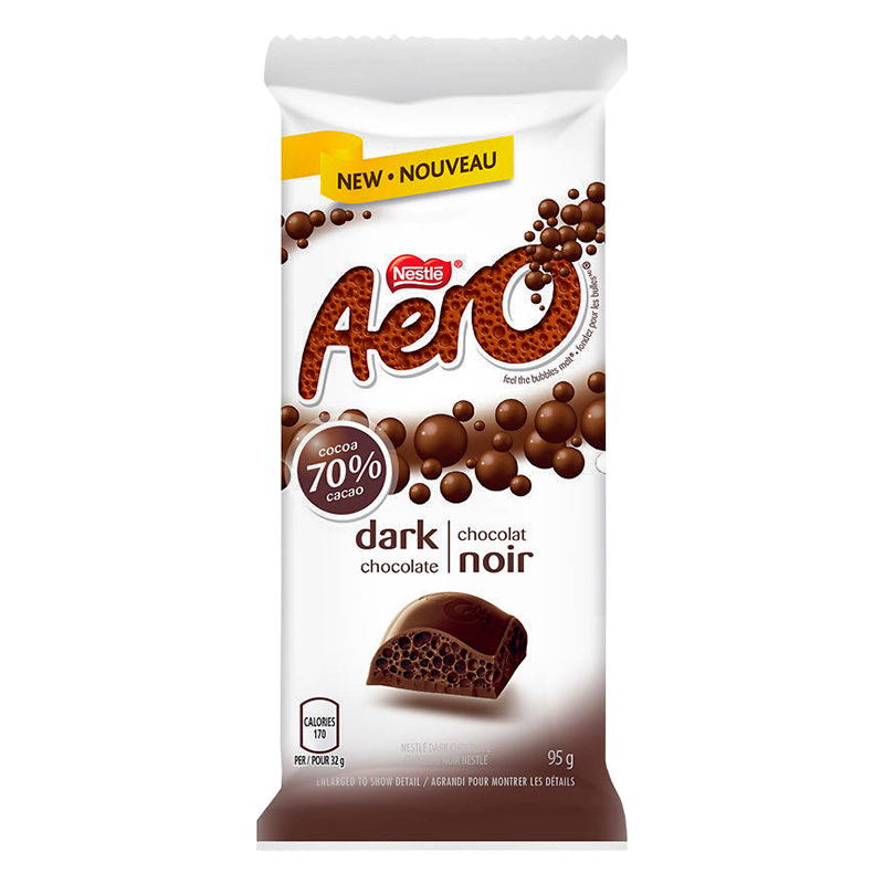 Nestle Aero Bar - Dark Chocolate - 95g