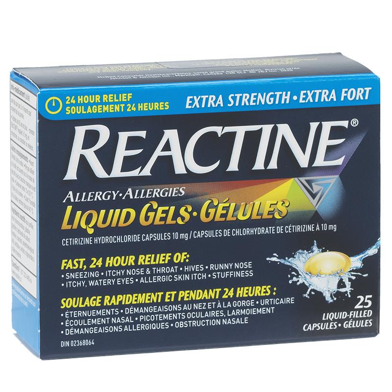 Reactine Allergy Liqui-Gels 24 Hour - 10mg/25's