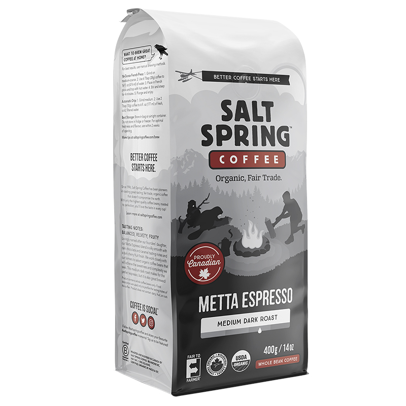 Salt Spring Coffee Metta Espresso - Whole Bean - 400g