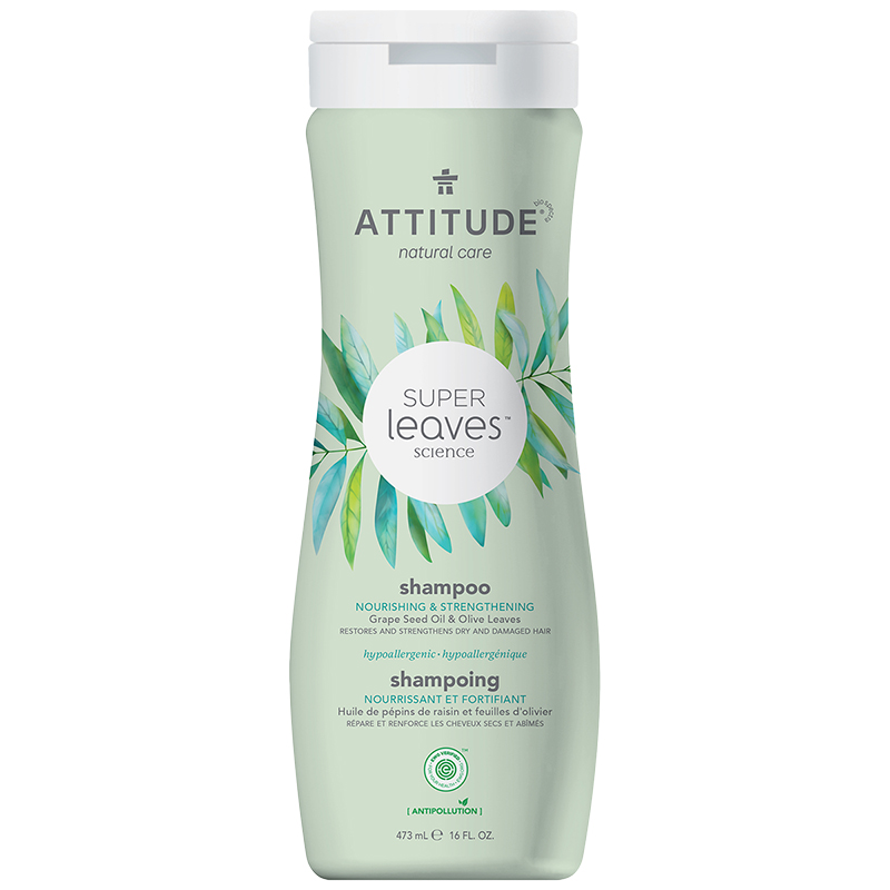 Attitude Super Leaves Science Natural Shampoo - Nourishing & Strengthening - 473ml
