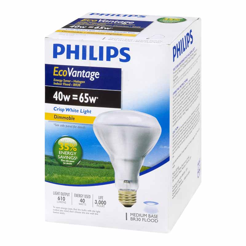 Philips 40W BR30 Ecovantage Light Bulb - 1 pack