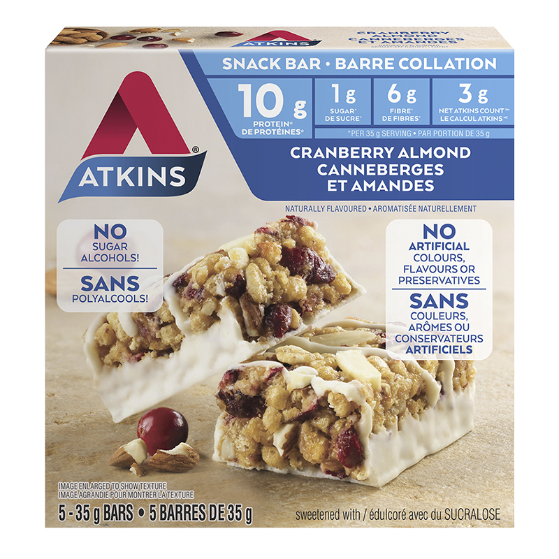 Atkins Snack Bar - Cranberry Almond - 5 x 35g