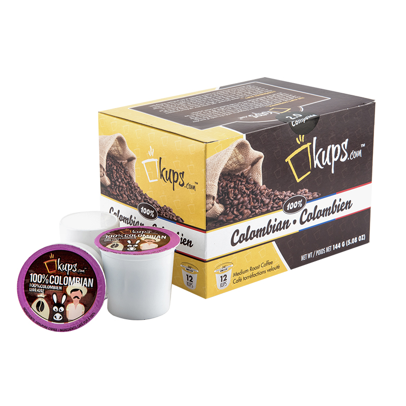 K-Cup Kups Coffee - 100% Colombian - 12's