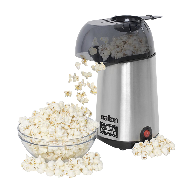 Salton Cinema Hot Air Popper - Stainless Steel - CP1741