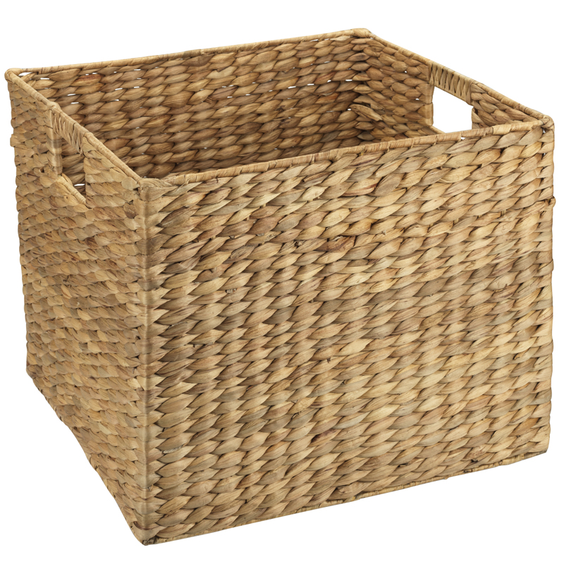 London Drugs Water Hyacinth Square Basket with Cut-out Handles - Small