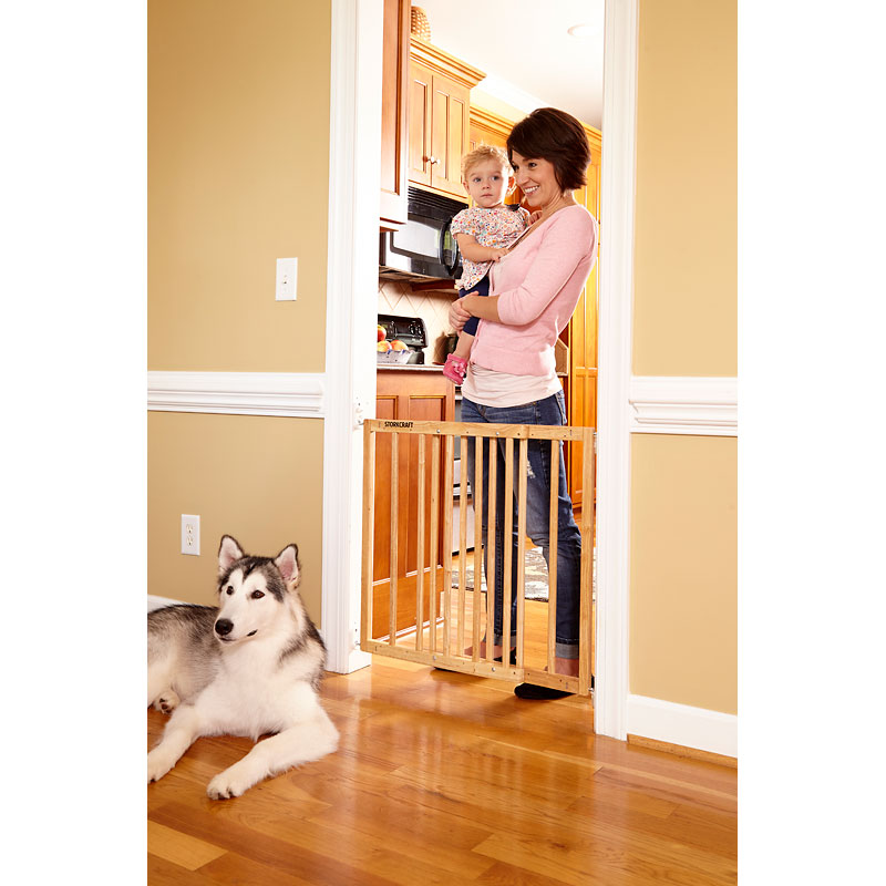 Storkcraft Easy Walk-Thru Wooden Safety Gate - Natural - 01720-305