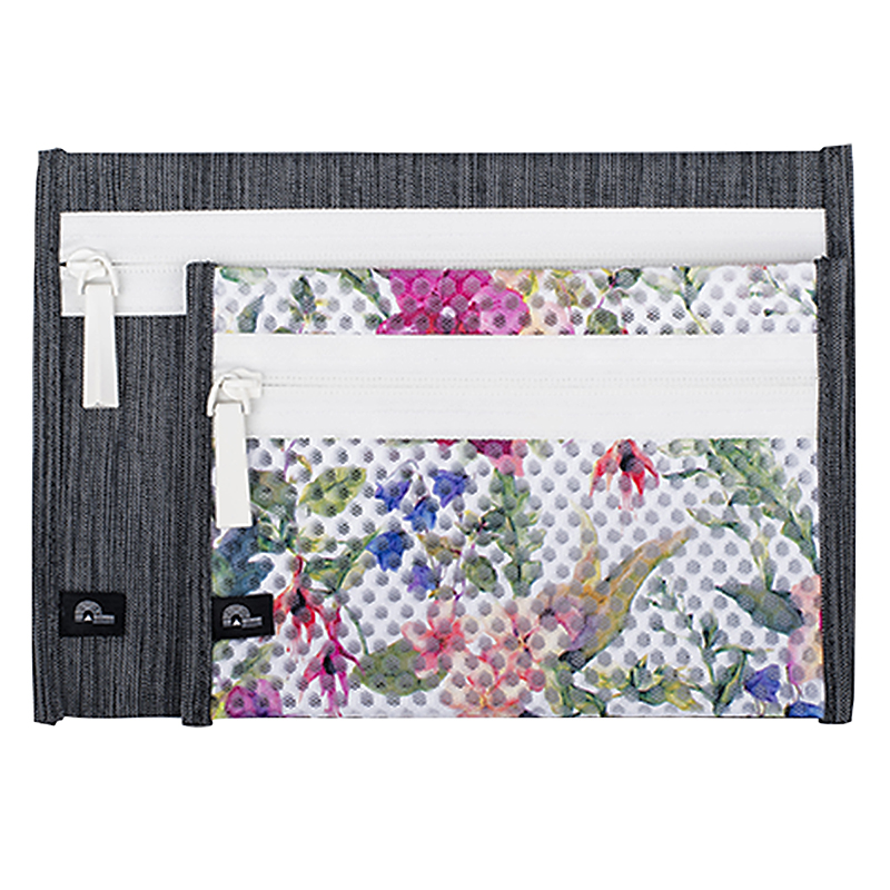 Porte Play Flat Pouch Set - Floral - 2 piece