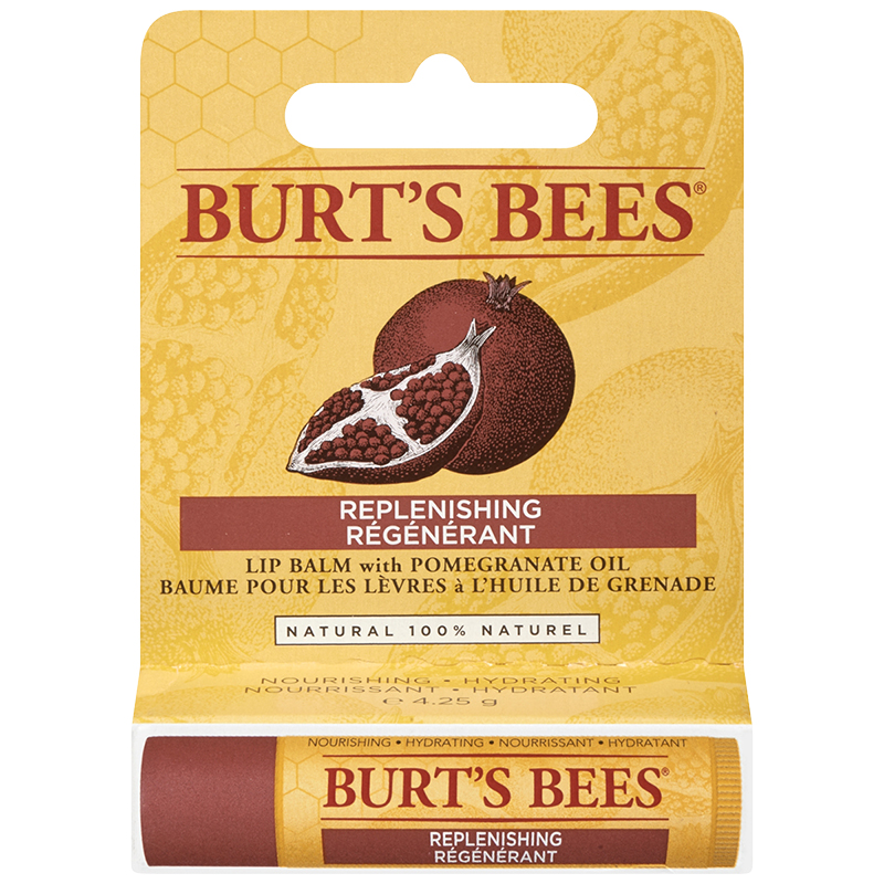 Burt's Bees Lip Balm with Pomegranate Oil - Replenishing - 4.25g