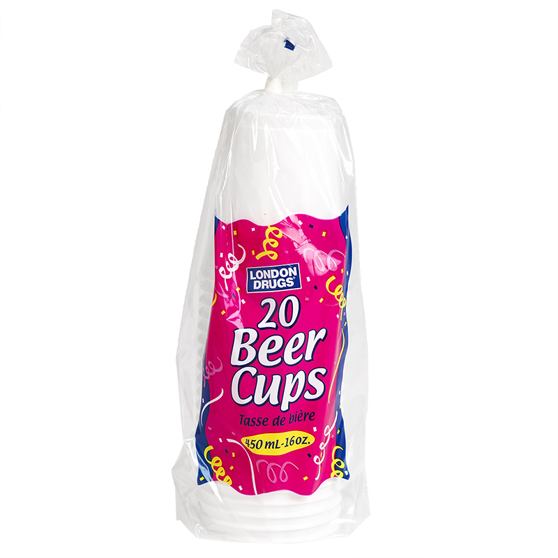 London Drugs Plastic Beer Cups - 16oz/20's