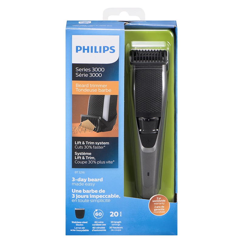 Philips Series 3000 Beard Trimmer - Black - BT3216/16