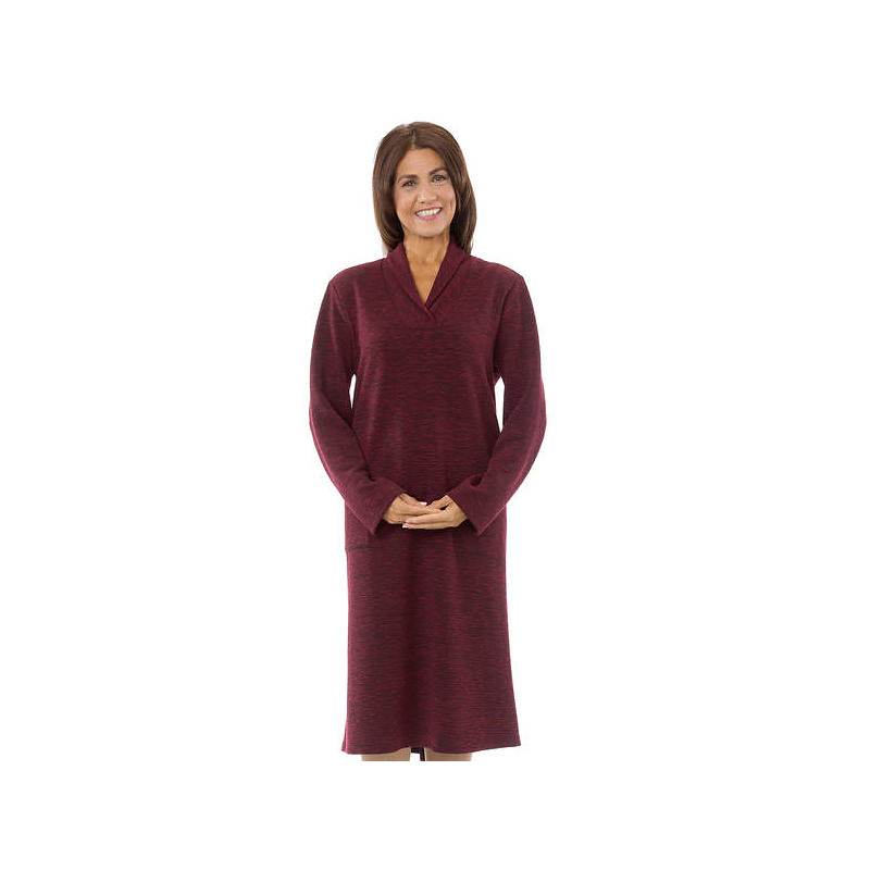 Silvert's Women's Open Back Knit Dress - Burgundy - Small