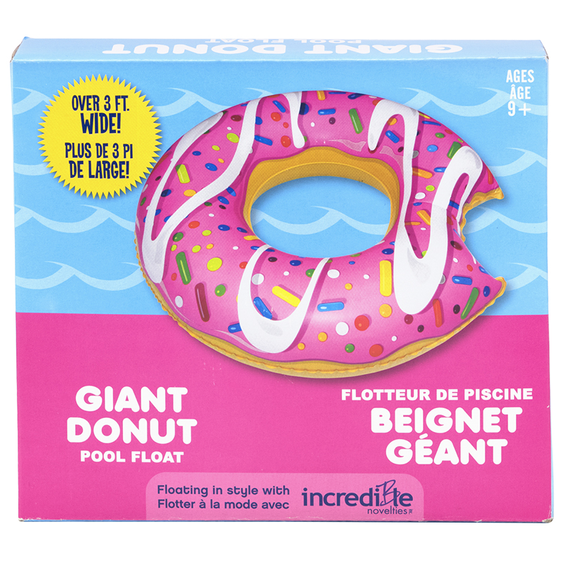 Giant Donut Inflatable Pool Float