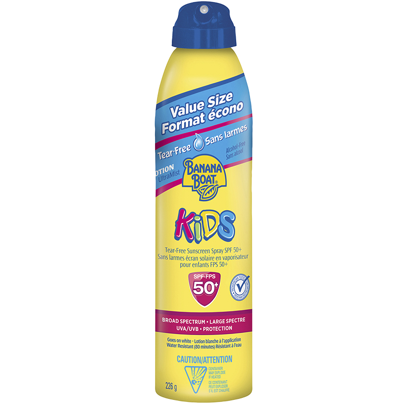 Banana Boat Tear-Free Kids Sunscreen Spray - SPF50+ - 226g