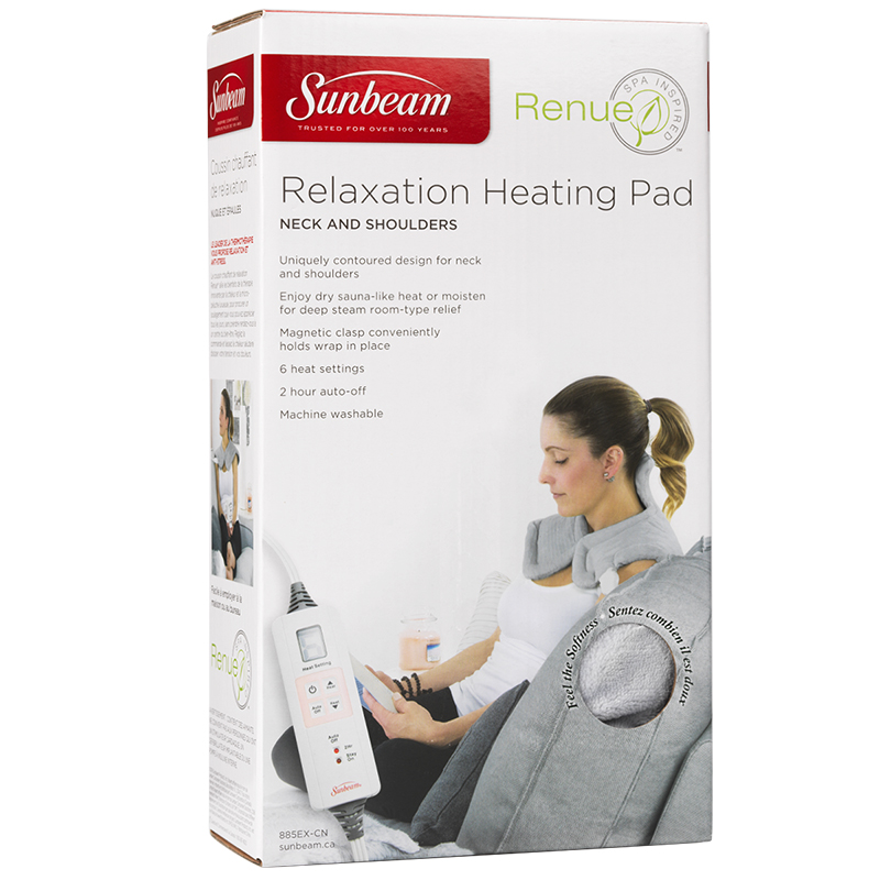 Sunbeam Renue Relaxation Heating Pad for Neck and Shoulders - 885EX-CN