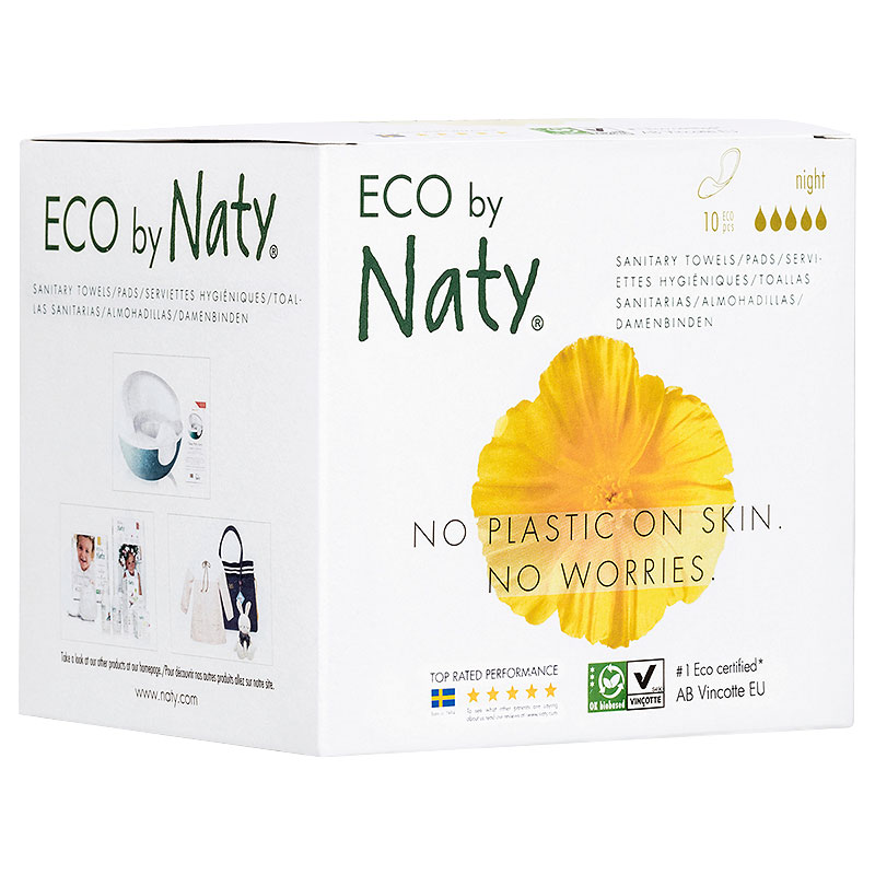Eco by Naty Thin Pads - Night - 10's