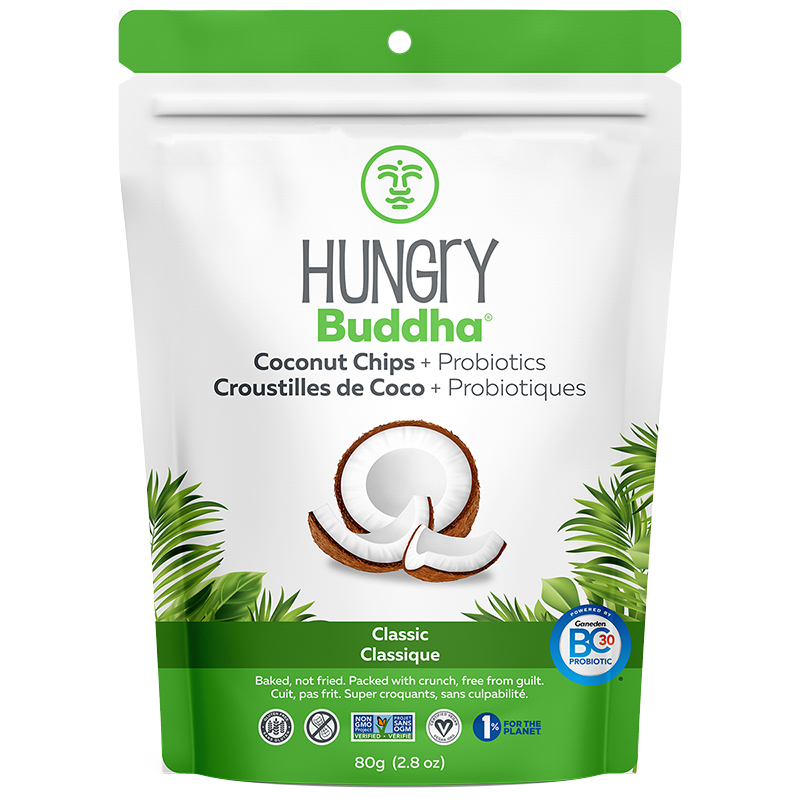 Hungry Buddha + Probiotic Coconut Chips - Classic - 80g