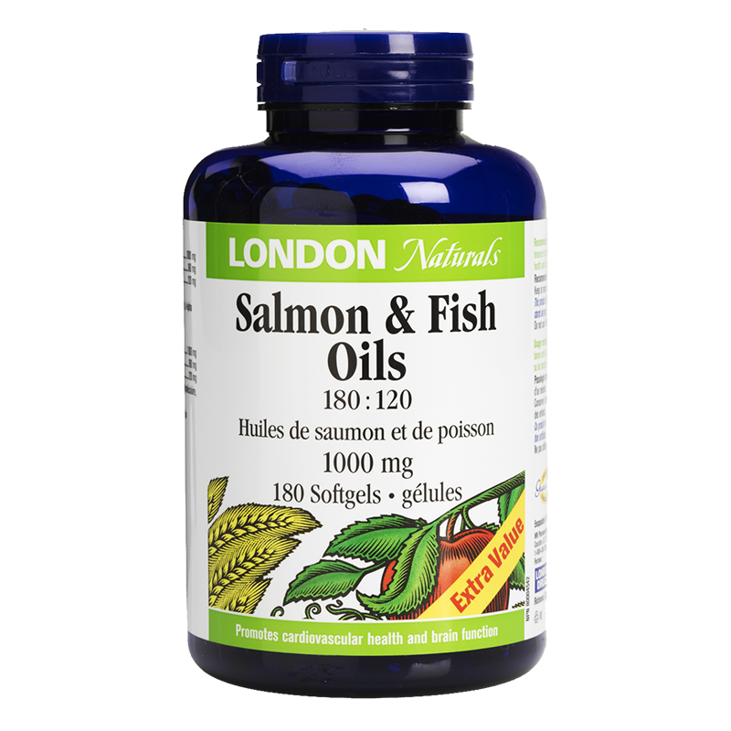 London Naturals Salmon & Fish Oils - 1000mg - 180's