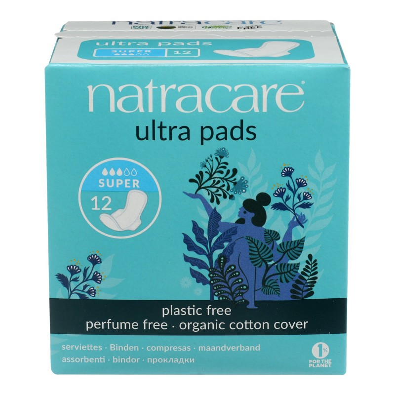 Natracare Ultra Pads with Wings - Super - 12's