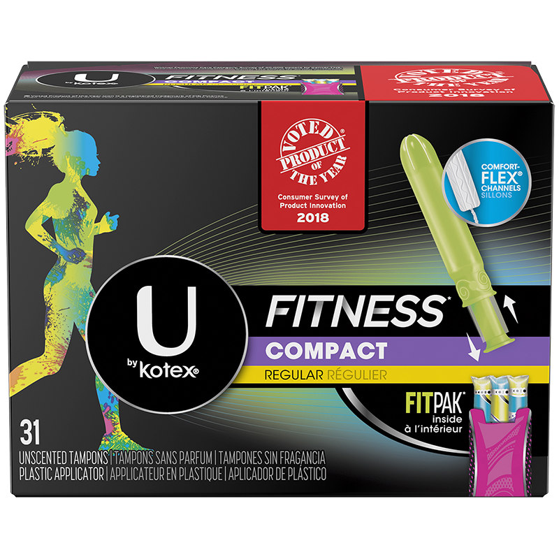 U by Kotex Fitness Compact Tampons - Regular - 31's