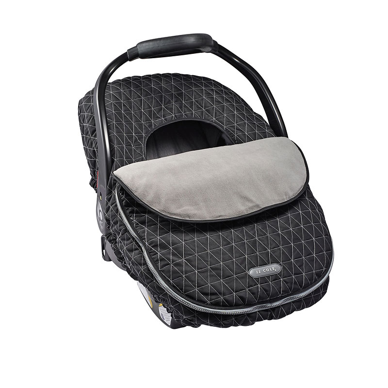 JJ Cole Car Seat Cover - Black Tri Stitch