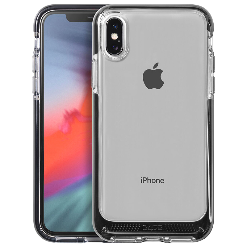 new styles a7ac8 088c8 Laut Fluro Crystal Case for iPhone X/Xs - Black - LAUTIP8FRBK