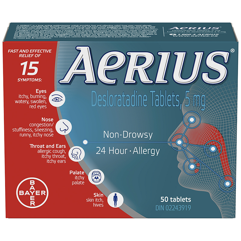 Aerius Allergy - Non-Drowsy - 24 hour - 50's