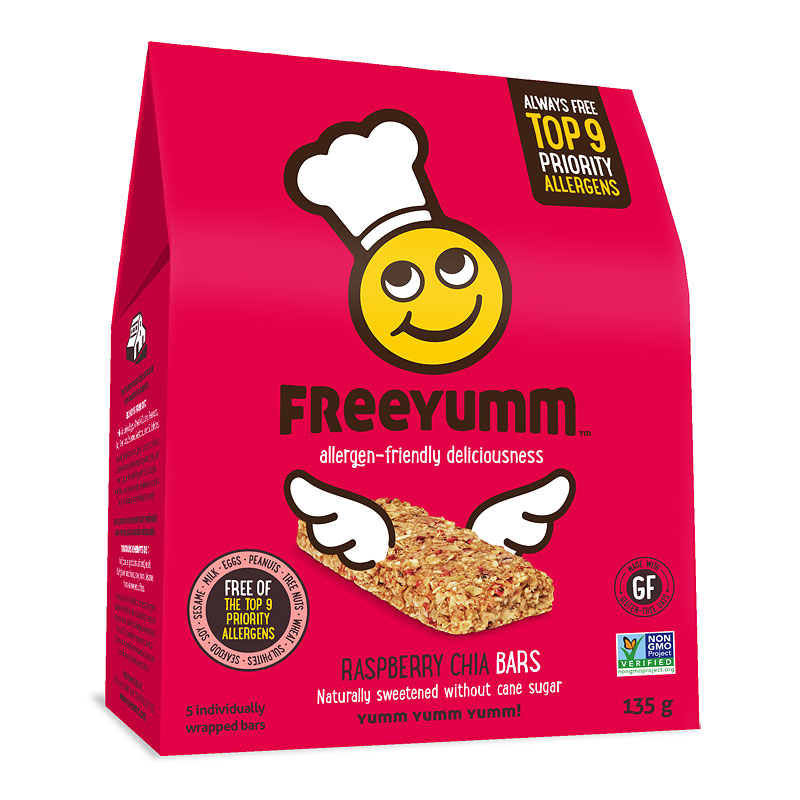 Freeyumm Oat Bars - Raspberry Chia - 135g