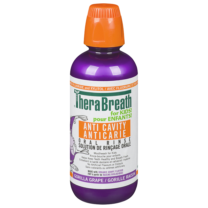 TheraBreath for Kids Anti-Cavity Oral Rinse - Gorilla Grape - 473ml