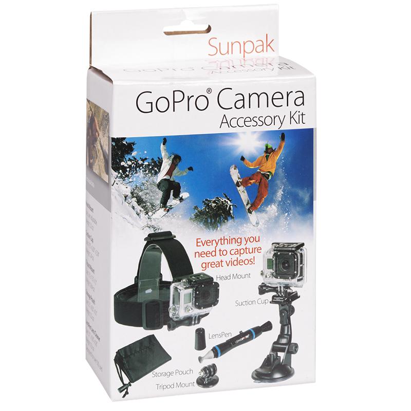 Action Camera Accessory Kit Sunpak 5 Piece Gopro