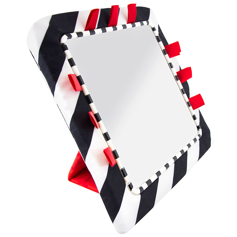 Sassy Black and White Floor Mirror - 80686FB