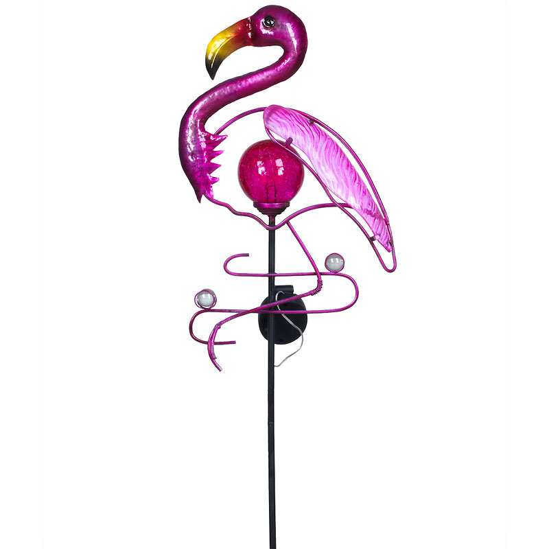 Hand Craft Solar Stick - Flamingo