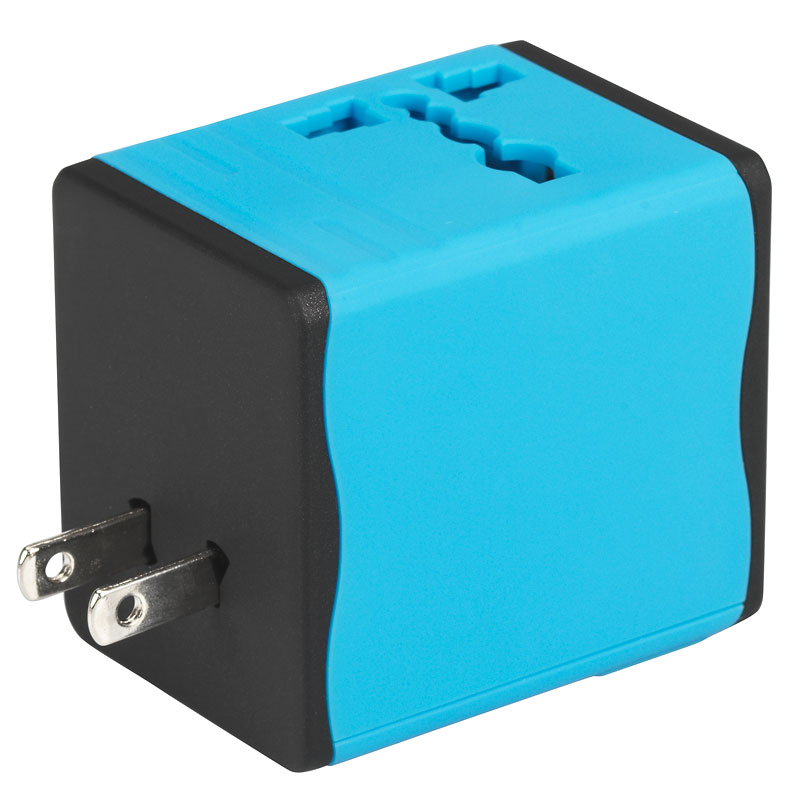 Certified Data World Travel Adapter - Blue - TA-128