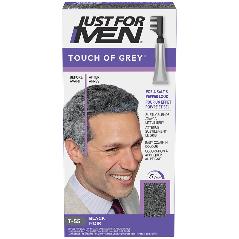 Just for Men Touch of Grey Hair Colouring - Black Grey