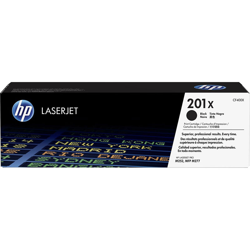 HP 201X High Yield Original LaserJet Toner Cartridge - Black - CF400X