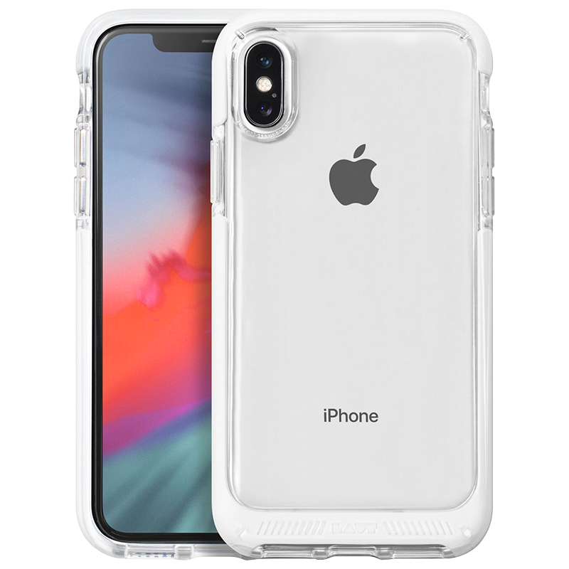 Laut Fluro Crystal Case for iPhone X/Xs - White - LAUTIP8FRW