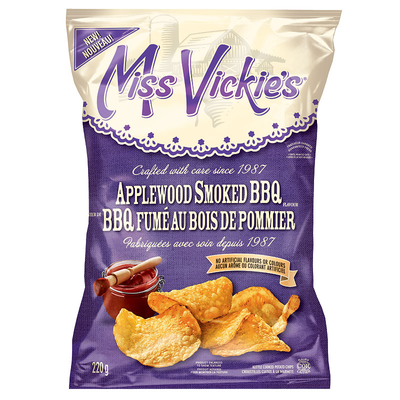 Miss Vickies Potato Chips - Applewood Smoked BBQ - 220g