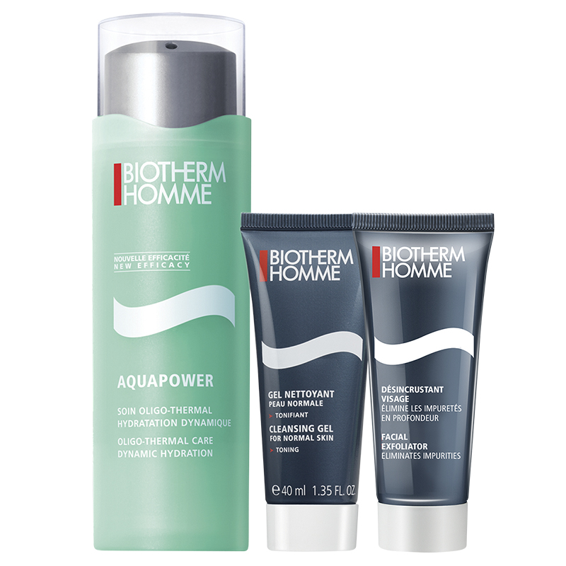 Biotherm Homme Aquapower Set - Normal to Combination Skin - 3 piece