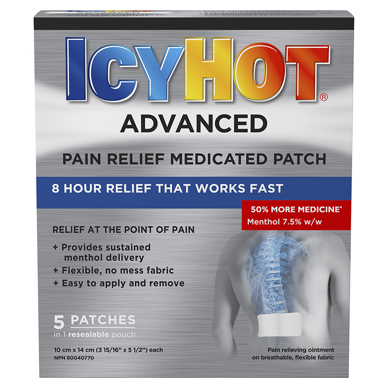 Icy Hot Advanced Pain Relief Medicated Patch - 5's