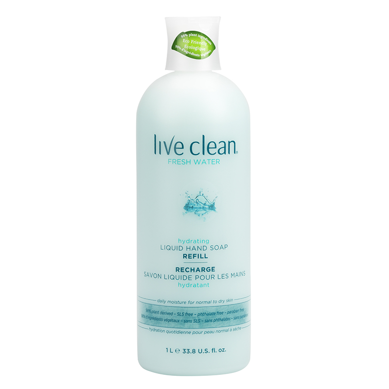 Live Clean Liquid Hand Soap Refill - Fresh Water - 1L