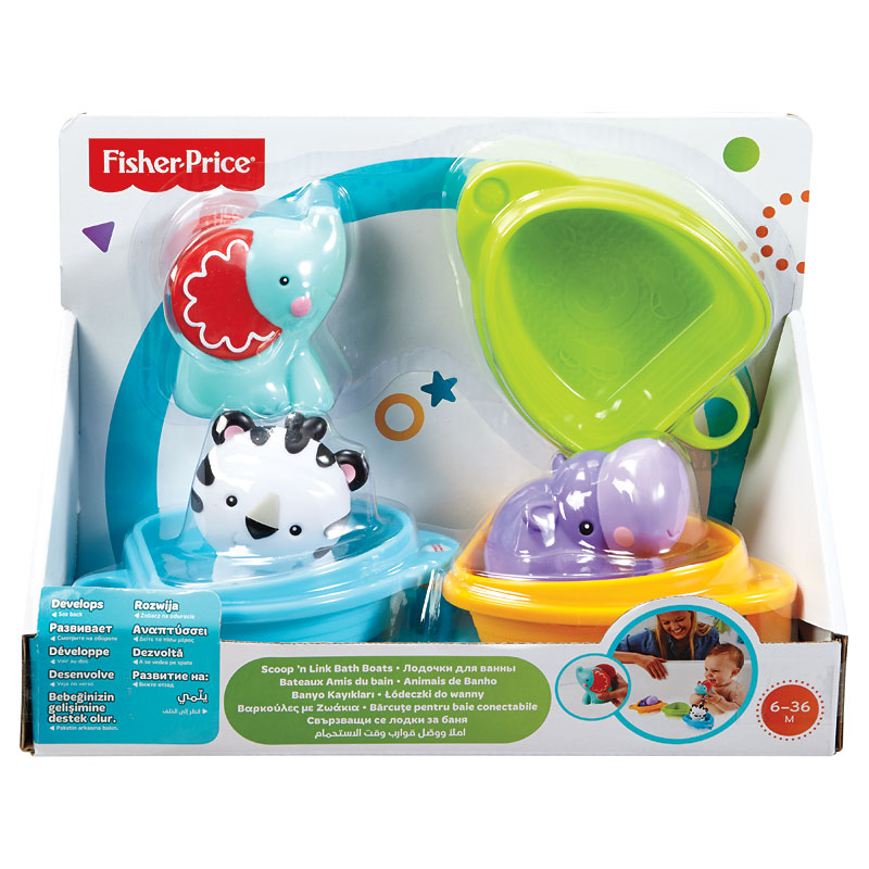 Fisher Price Scoop 'n Link Bath Boats